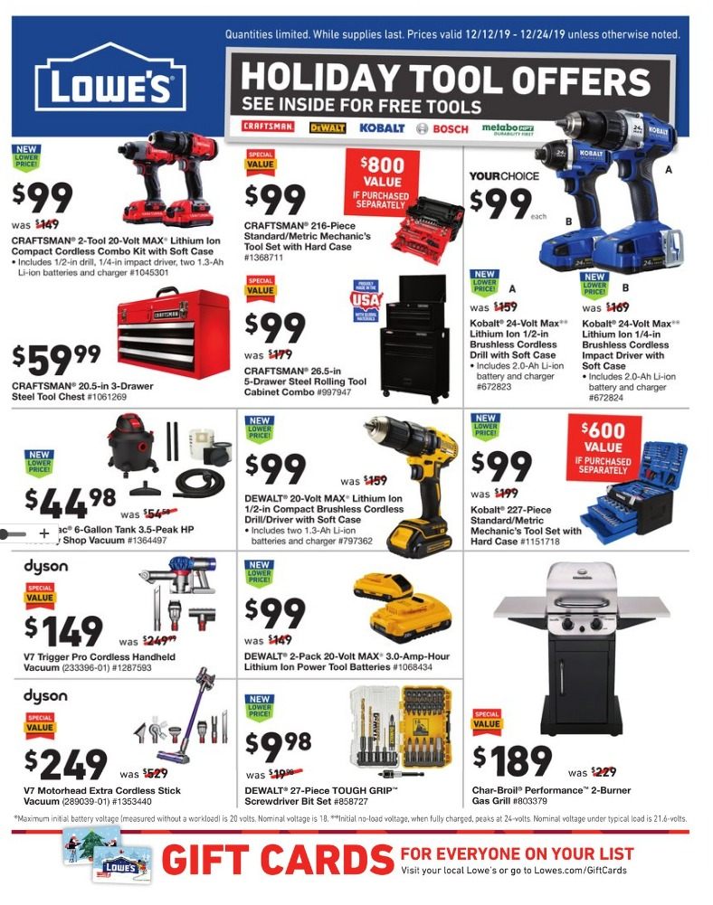 Lowes Christmas page 1