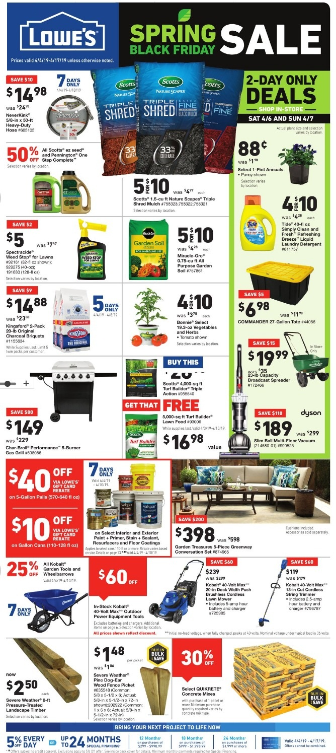 Lowes Spring Black Friday page 1